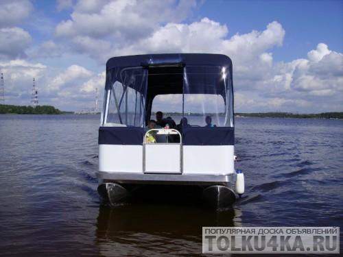 лодка понтон самоходный пассажирский