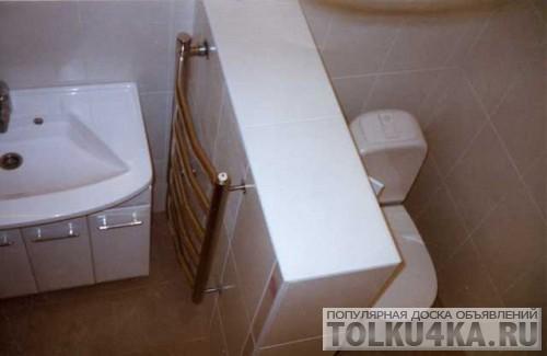 Сделать перегородку в ванной комнате